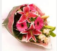 1 dal kazablanka ve mevsim çiçekleri  Kıbrıs online çiçek gönderme sipariş