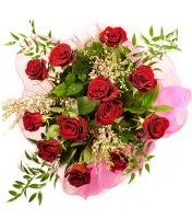 12 adet kırmızı gül buketi  Kıbrıs hediye sevgilime hediye çiçek