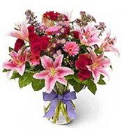 Vazo içerisinde karışık mevsim çiçeği  Kıbrıs çiçekçiler