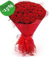 51 adet kırmızı gül buketi özel hissedenlere  Kıbrıs çiçekçiler