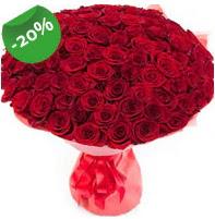 Özel mi Özel buket 101 adet kırmızı gül  Kıbrıs çiçek online çiçek siparişi
