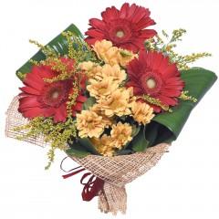 karışık mevsim buketi  Kıbrıs internetten çiçek satışı
