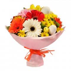 Karışık mevsim buketi Mevsimsel çiçek  Kıbrıs online çiçek gönderme sipariş