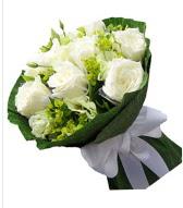 9 adet beyaz gül buketi  Kıbrıs çiçekçiler