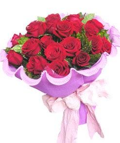 12 adet kırmızı gülden görsel buket  Kıbrıs internetten çiçek satışı