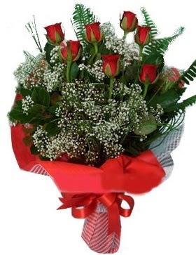7 kırmızı gül buketi  Kıbrıs kaliteli taze ve ucuz çiçekler