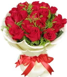 19 adet kırmızı gülden buket tanzimi  Kıbrıs kaliteli taze ve ucuz çiçekler
