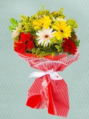 Karışık Gelbera Buketi  Kıbrıs çiçekçiler