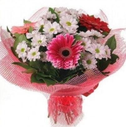 Gerbera ve kır çiçekleri buketi  Kıbrıs online çiçek gönderme sipariş