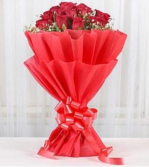 12 adet kırmızı gül buketi  Kıbrıs çiçek siparişi sitesi
