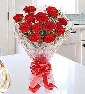 12 adet kırmızı karanfil buketi  Kıbrıs çiçek yolla