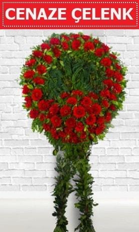 Kırmızı Çelenk Cenaze çiçeği  Kıbrıs çiçek yolla