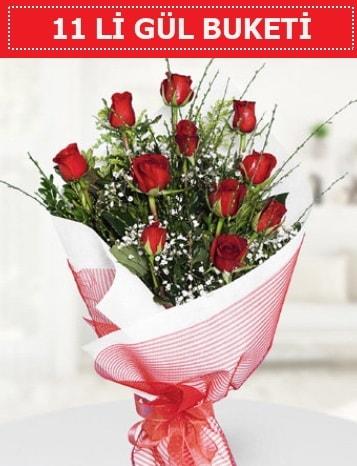 11 adet kırmızı gül buketi Aşk budur  Kıbrıs çiçek gönderme