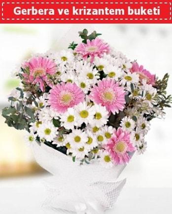 Papatya ve Gerbera Buketi  Kıbrıs hediye çiçek yolla