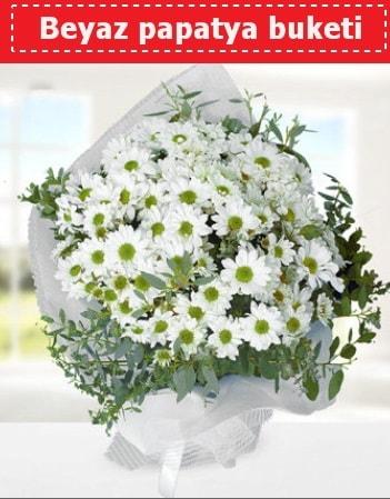 Beyaz Papatya Buketi  Kıbrıs hediye sevgilime hediye çiçek